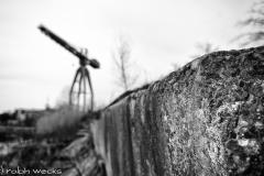Symbolische Reste der Geeste-Werften, hier Rickmers