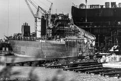 Schiffbau an der Geeste, in den 70ern noch voll im Saft