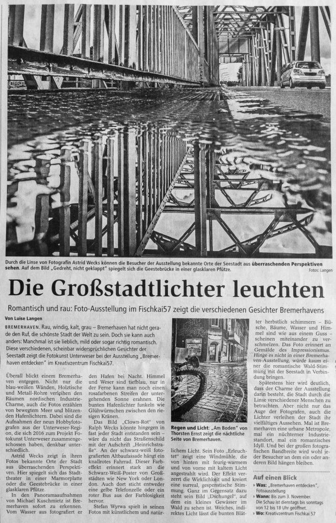 """NZ berichtet über """"Bremerhaven entdecken"""""""